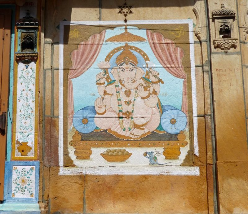 Ganesh painting in the old town - Jaisalmer