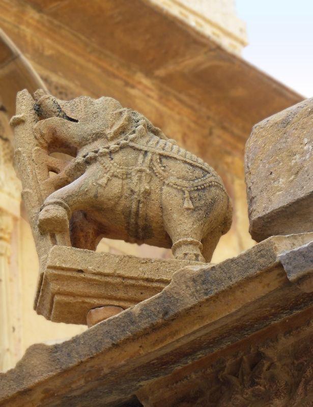 Laxmi Narayan Temple exterior - Jaisalmer Fort