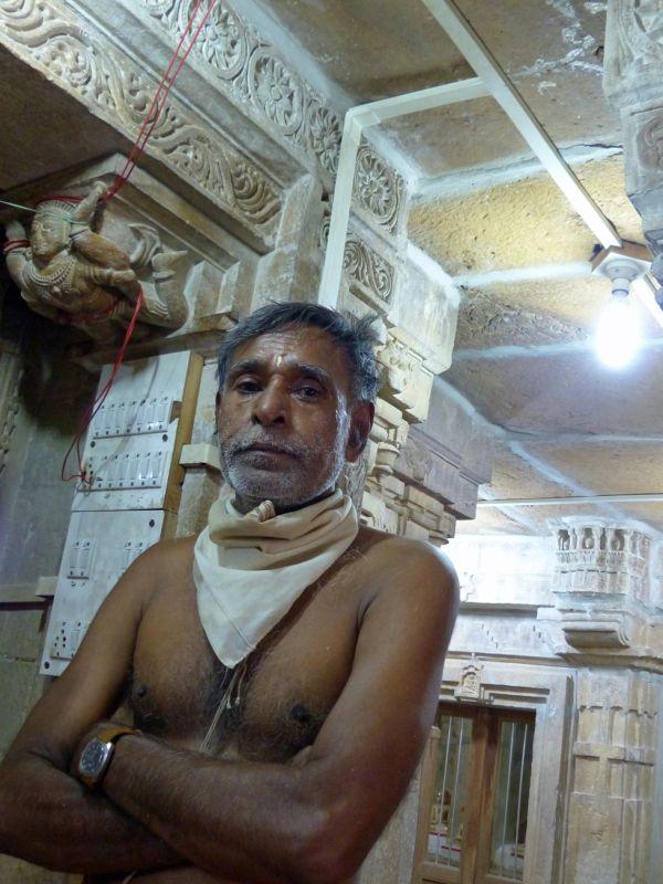 Monk, Chandraprabhu Jain temple - Jaisalmer Fort