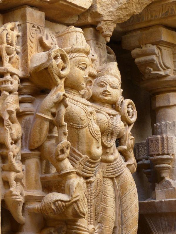 In Rishabanatha Jain temple - Jaisalmer Fort