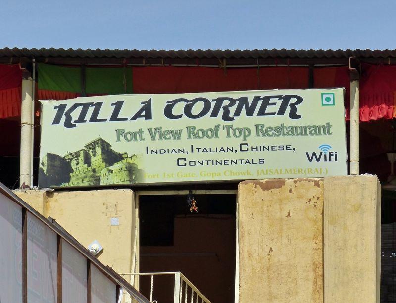 Amusing sign in the fort - Jaisalmer