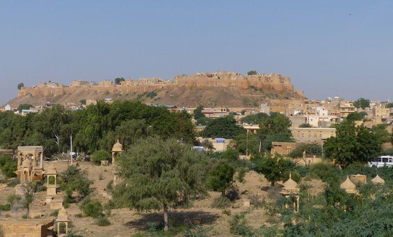 The fort from Gadisar Lake - Jaisalmer