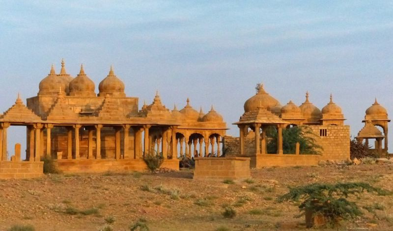 Vyas Chhatri at sunset - Jaisalmer