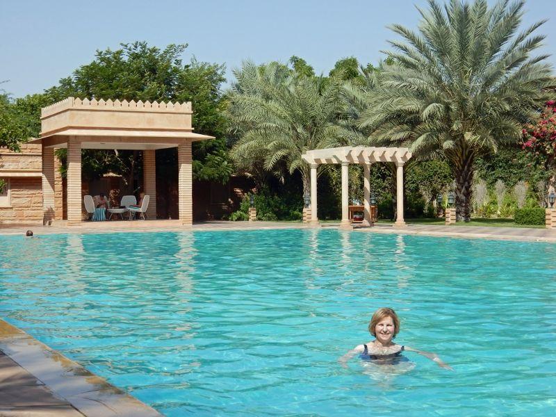 In the pool at Samsara - Dechu