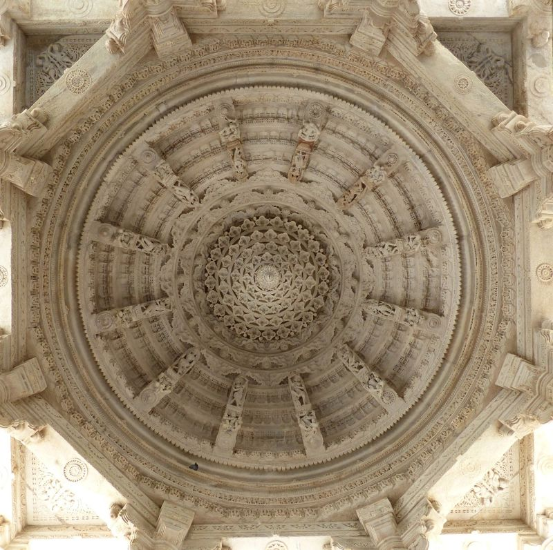 Inside the temple at Ranakpur