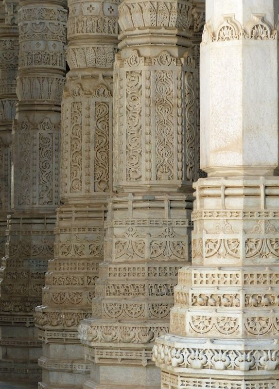 Some of the 1,444 pillars - Ranakpur