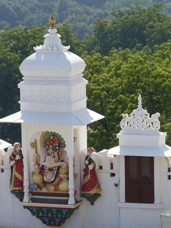 Ganesh statue, City Palace - Udaipur