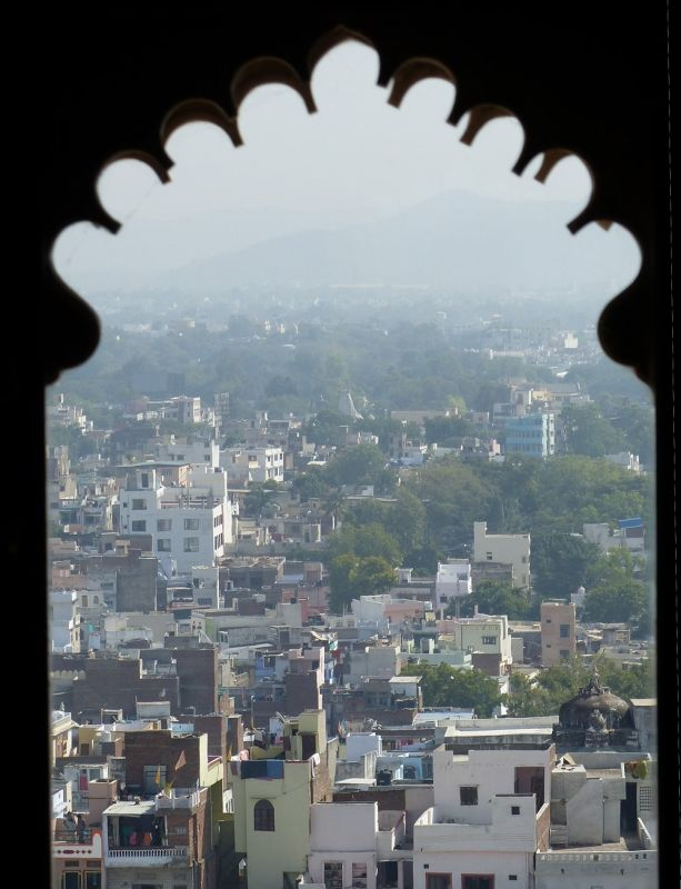 View from Badi Mahal, City Palace - Udaipur