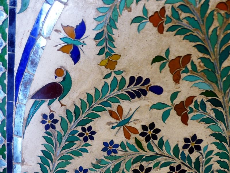 Glass inlay, City Palace - Udaipur