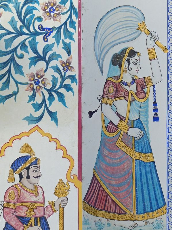 Wall decoration, City Palace - Udaipur