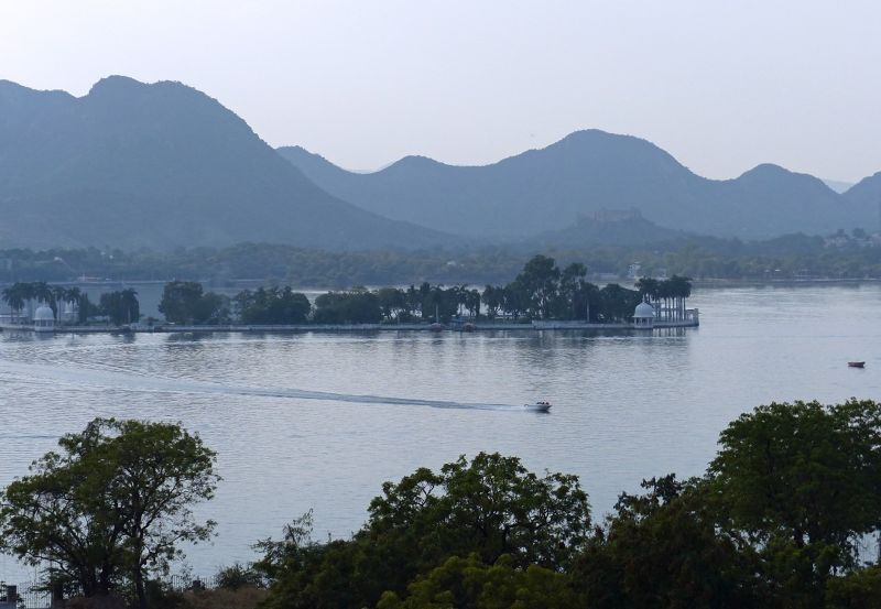 Fateh Sagar from our hotel - Udaipur