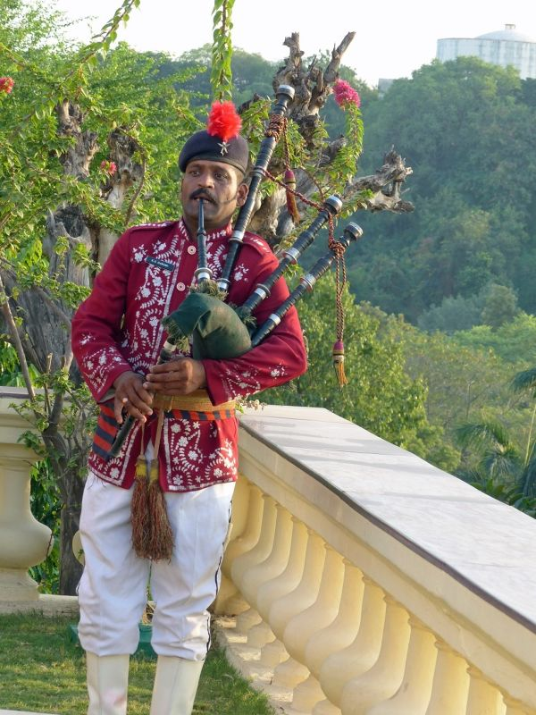 Piping in the sunset - Udaipur