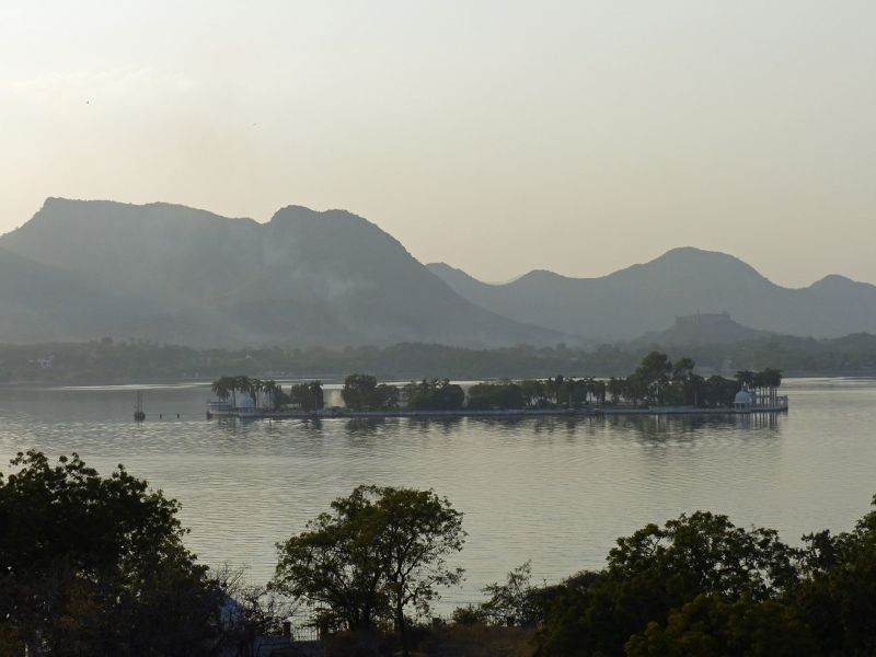 Fateh Sagar lake from our hotel - Udaipur