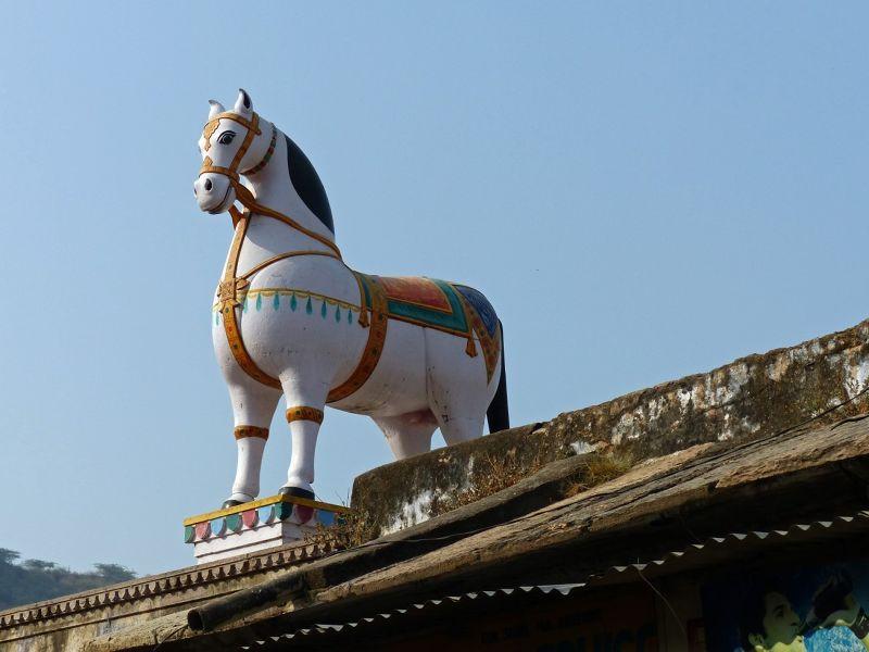 Statue of a horse - Bundi