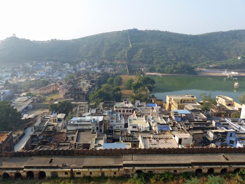 View of the town from Bundi Palace