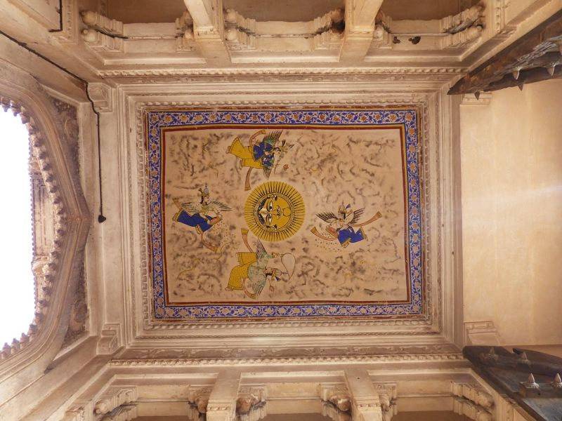 Ceiling of Hathi Pol - Bundi Palace