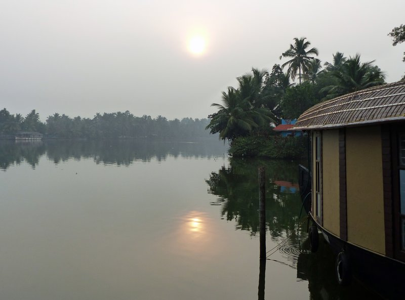 Sunrise on the Kerala backwaters