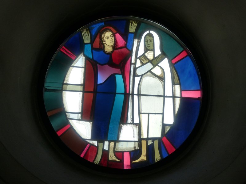 Stained glass, St Martin's church, Wangen
