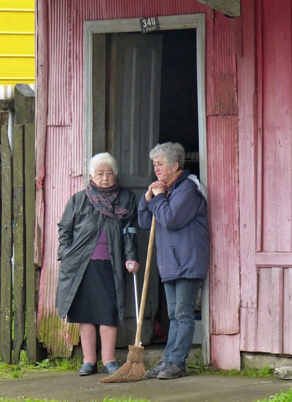 Locals in Ancud, Chiloe
