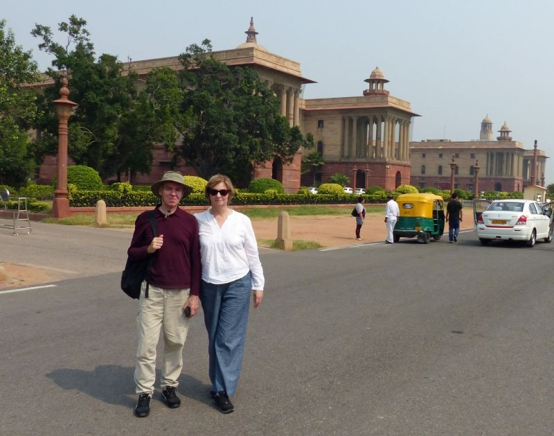 In front of the North Secretariat - Delhi