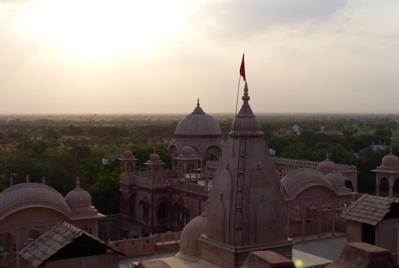 View from Khimsar Fort hotel - Khimsar