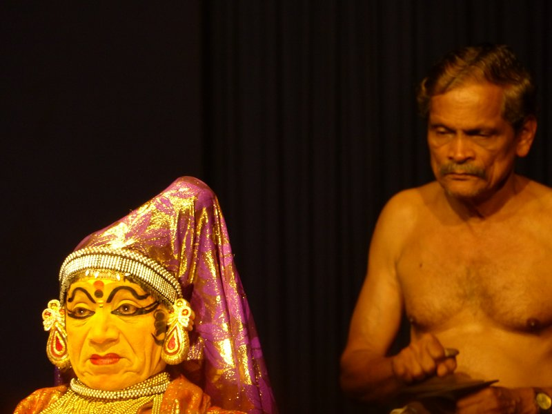 Kathakali dancer and musician