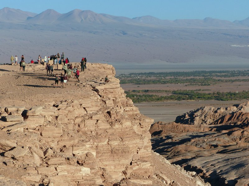 Tourists at the Mirador de Kari, Atacama Desert