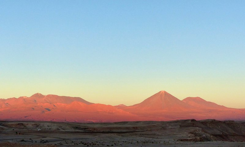 Sunset over the desert, from the Mirador de Kari, Atacama Desert