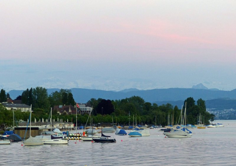 Lake Zurich at sunset