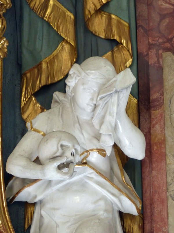 Detail of side altar, Spitalkirche, Wangen