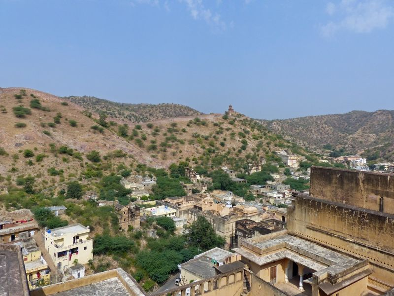 View of the village from the fort - Amer