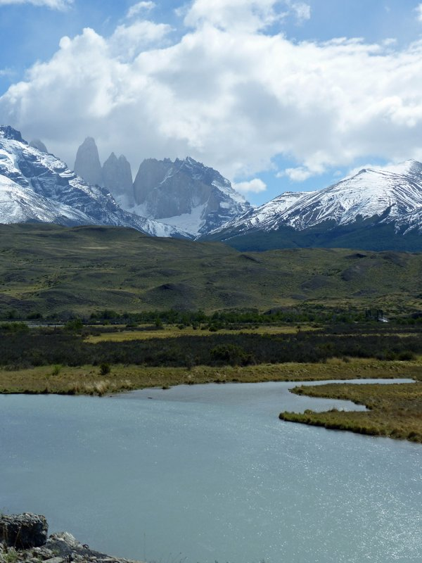 At the entrance to the Torres del Paine National Park