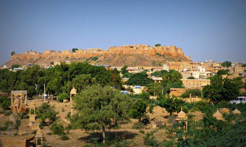 Jaisalmer Fort from Gadisar Lake
