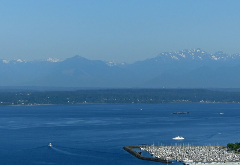 Puget Sound and Olympic Peninsula from the Space Needle