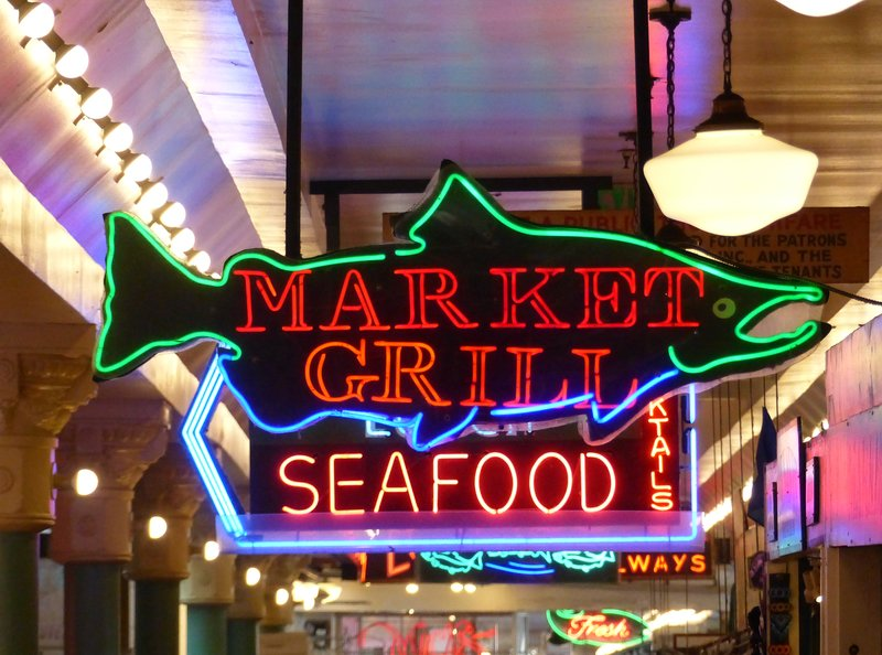 Signs in Pike Place Market, Seattle