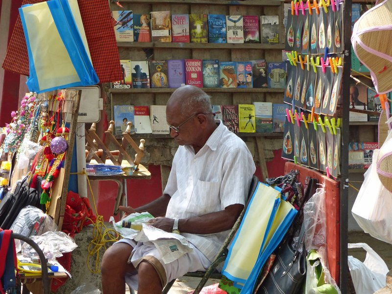 Shopkeeper in Fort Cochin