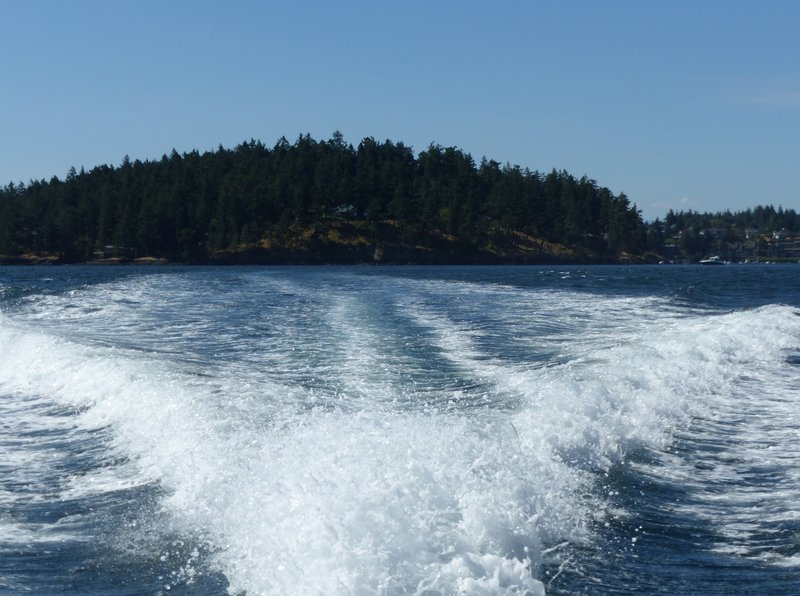 Leaving Friday Harbor on the Spirit of Orca