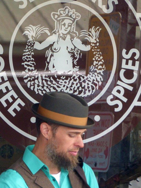 Outside the original Starbucks, Pike Place Market