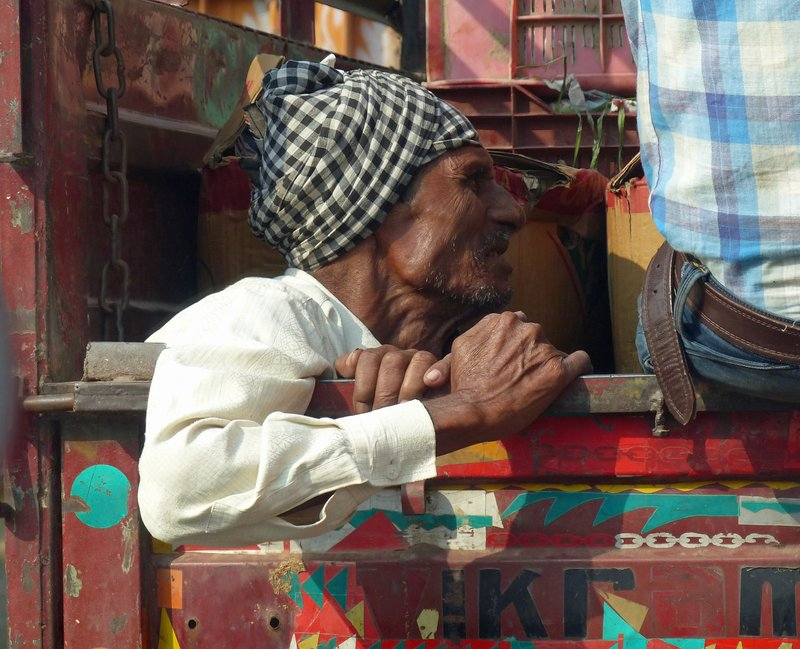On the road to Jaipur: passenger