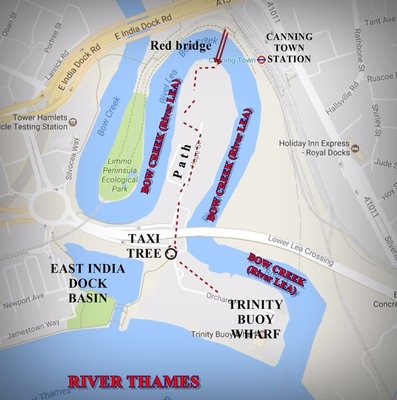 Bow Creek  today: map