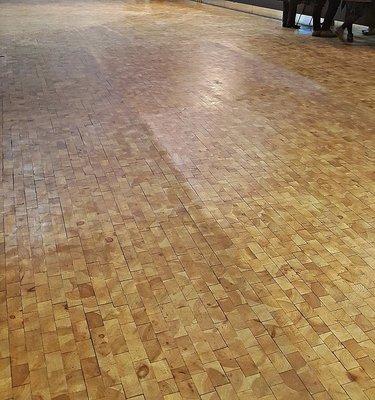 Barbican: wooden floor