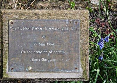 New River Walk: memorial to  Herbert Morrison