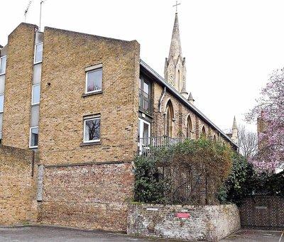 St Stephens Canonbury:  rear