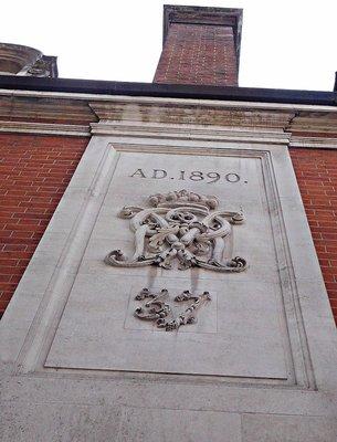 Clarges Mews: 1890 crest