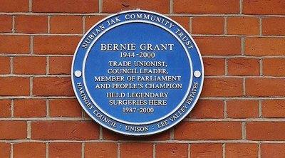 Former Tottenham Town Hall: Bernie Grant plaque