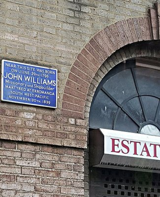 John Williams memorial plaque