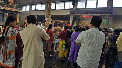 Sri Karpaya Vinayagar Temple: during a poojah