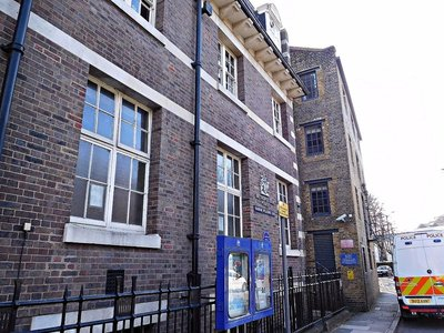 Marine Policing Station: facade on Wapping High Street