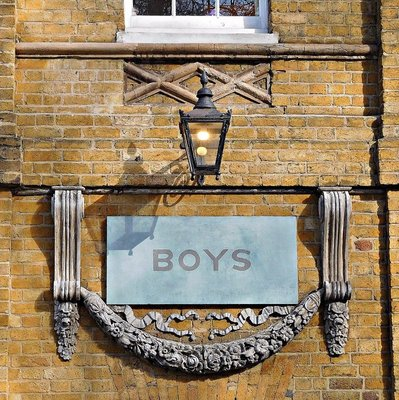 St Johns Churchyard Wapping: school - detail
