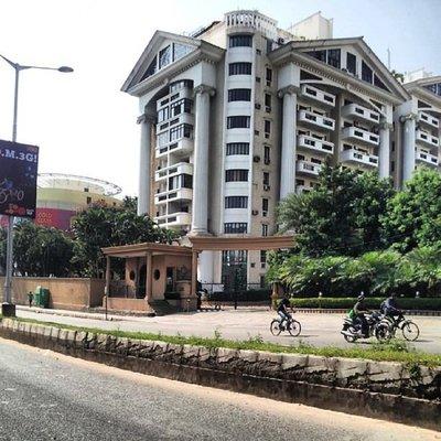 Apartment block on Hosur Road